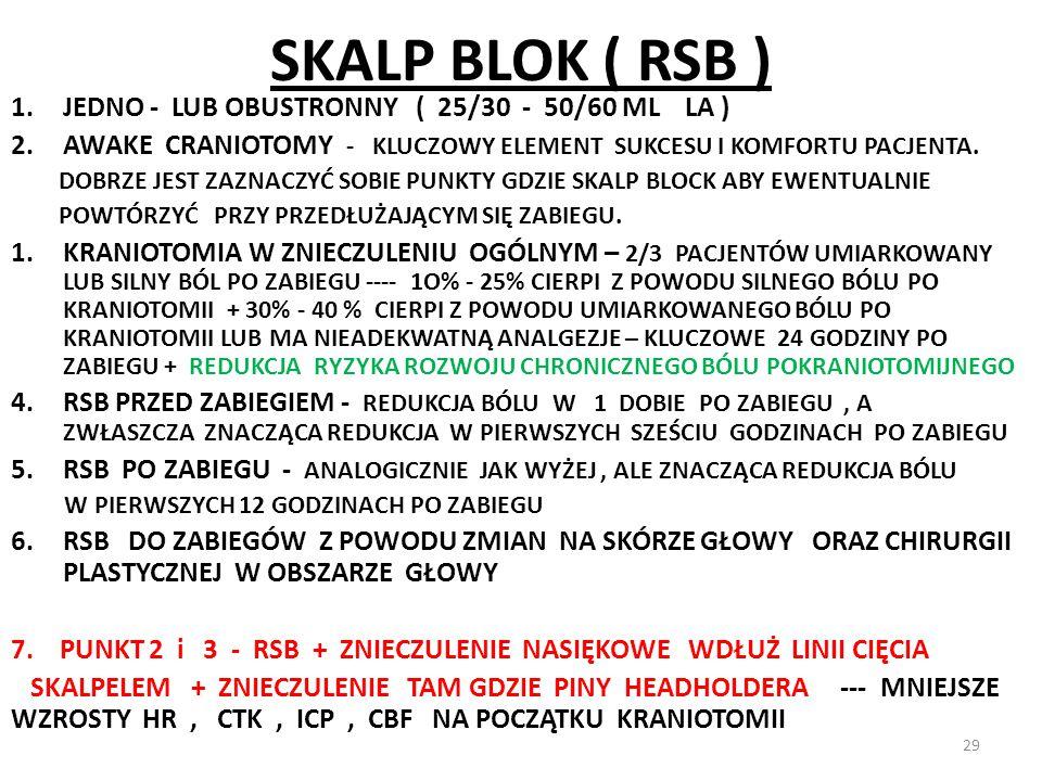 SKALP BLOK ( RSB ) JEDNO - LUB OBUSTRONNY ( 25/30 - 50/60 ML LA )