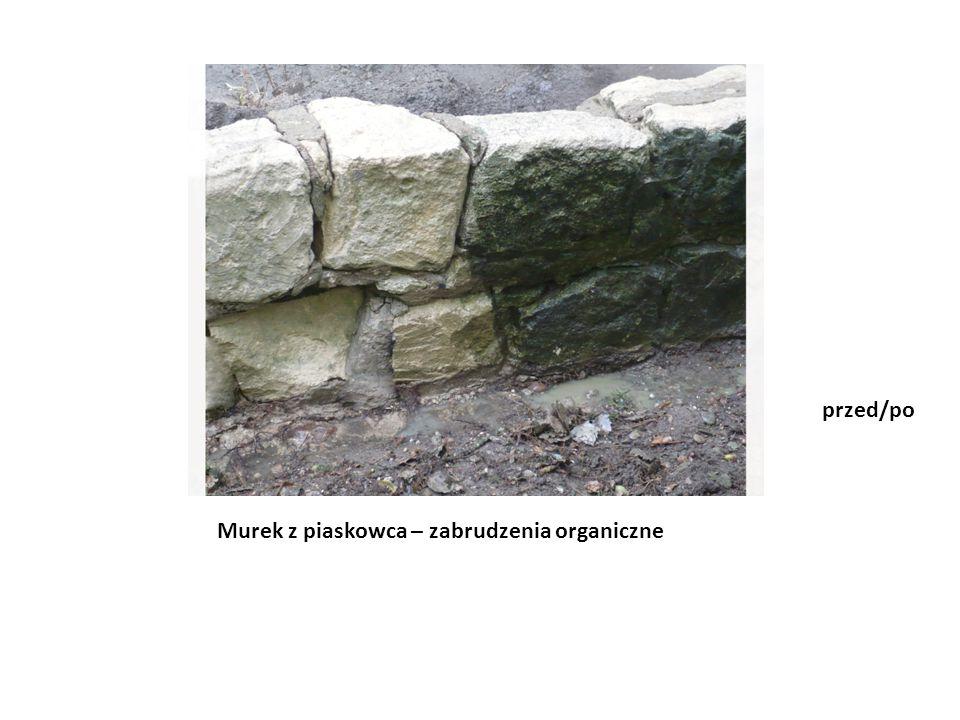 Murek z piaskowca – zabrudzenia organiczne