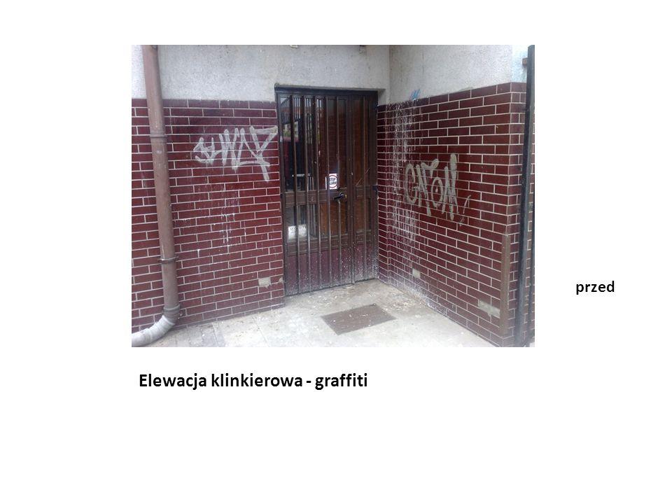 Elewacja klinkierowa - graffiti