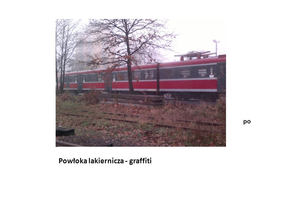 Powłoka lakiernicza - graffiti