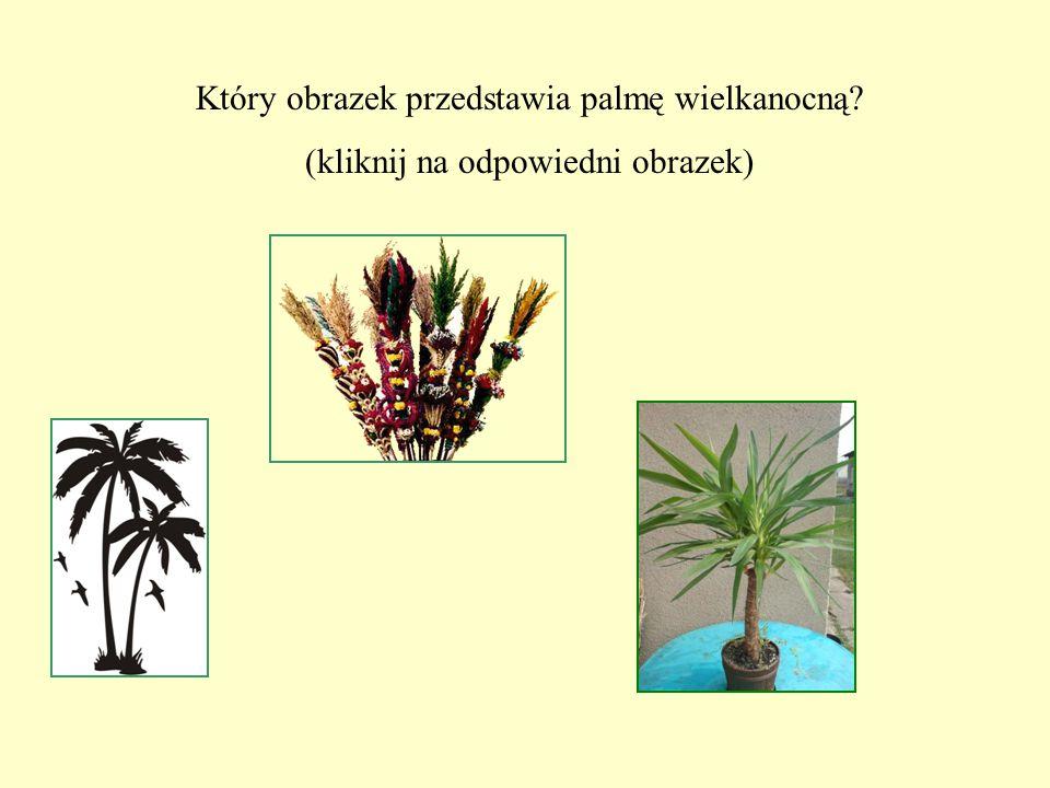 Który obrazek przedstawia palmę wielkanocną