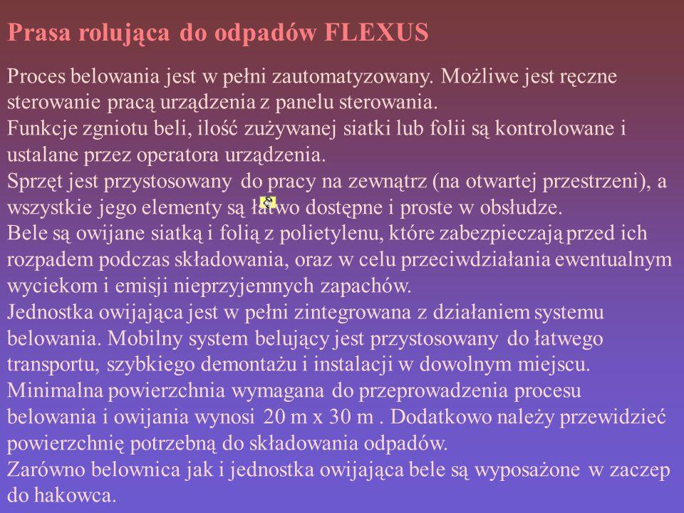 Prasa rolująca do odpadów FLEXUS