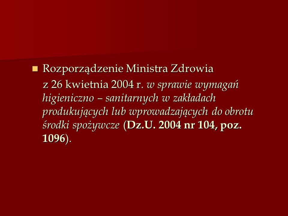 Rozporządzenie Ministra Zdrowia