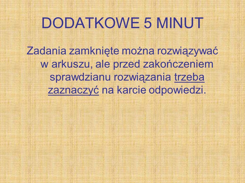 DODATKOWE 5 MINUT