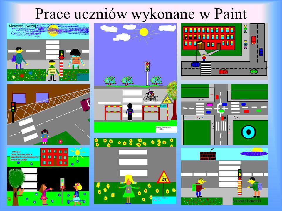 Prace uczniów wykonane w Paint