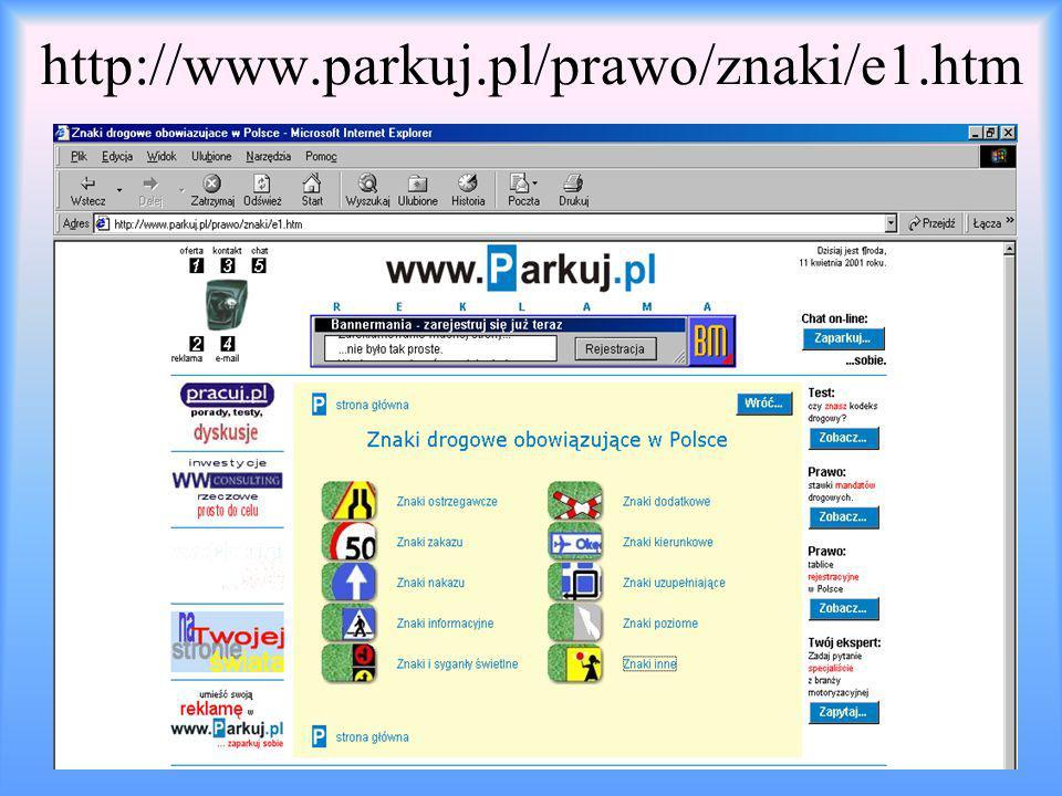 http://www.parkuj.pl/prawo/znaki/e1.htm