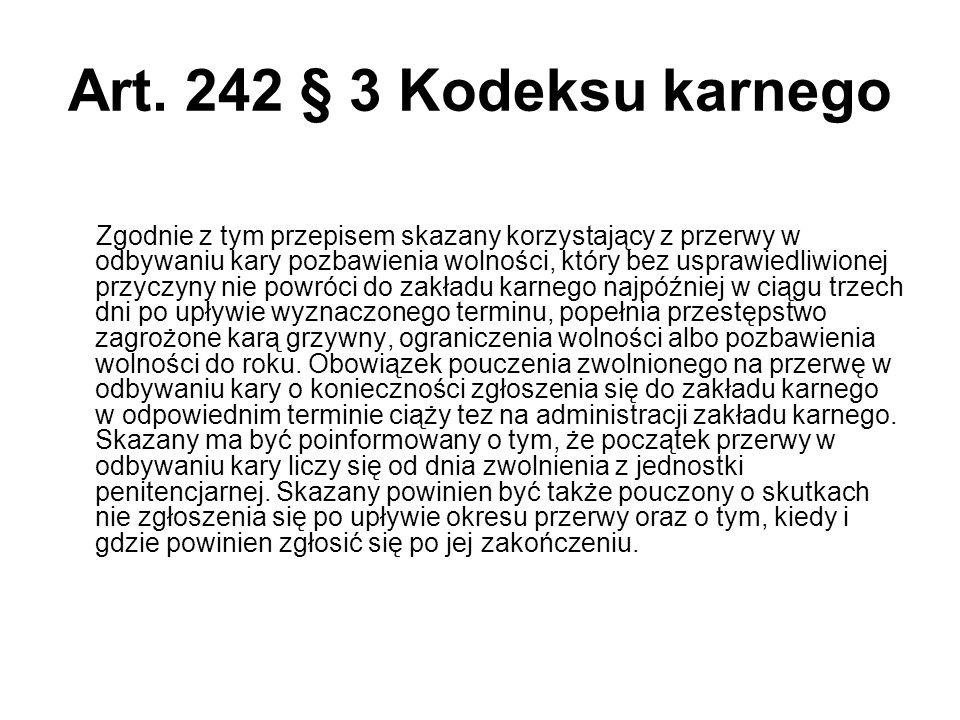 Art. 242 § 3 Kodeksu karnego