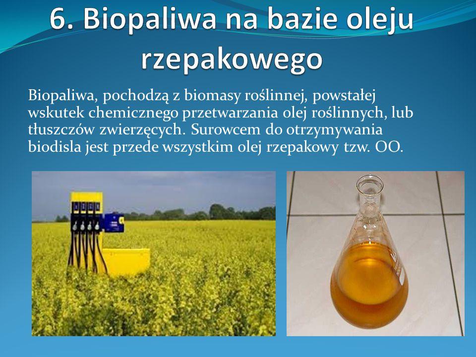 6. Biopaliwa na bazie oleju rzepakowego