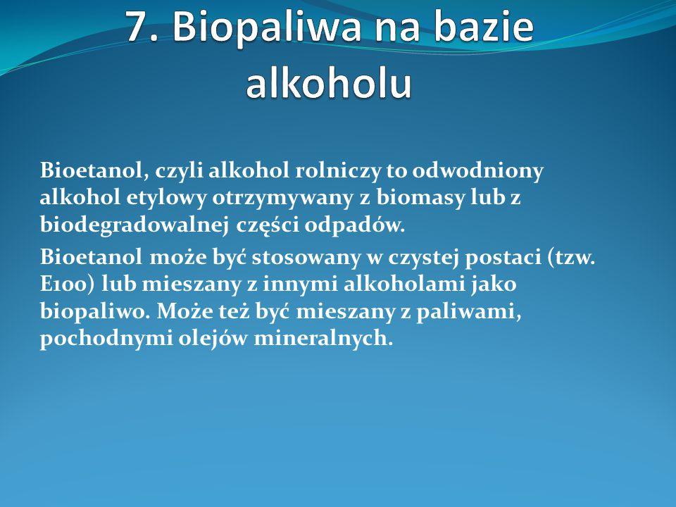 7. Biopaliwa na bazie alkoholu