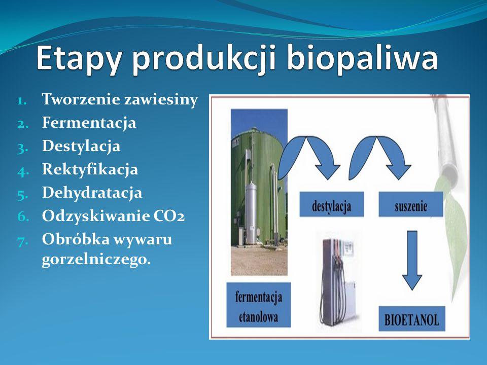 Etapy produkcji biopaliwa