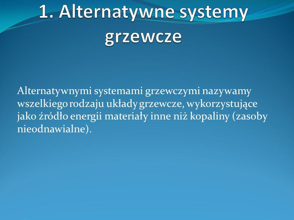 1. Alternatywne systemy grzewcze