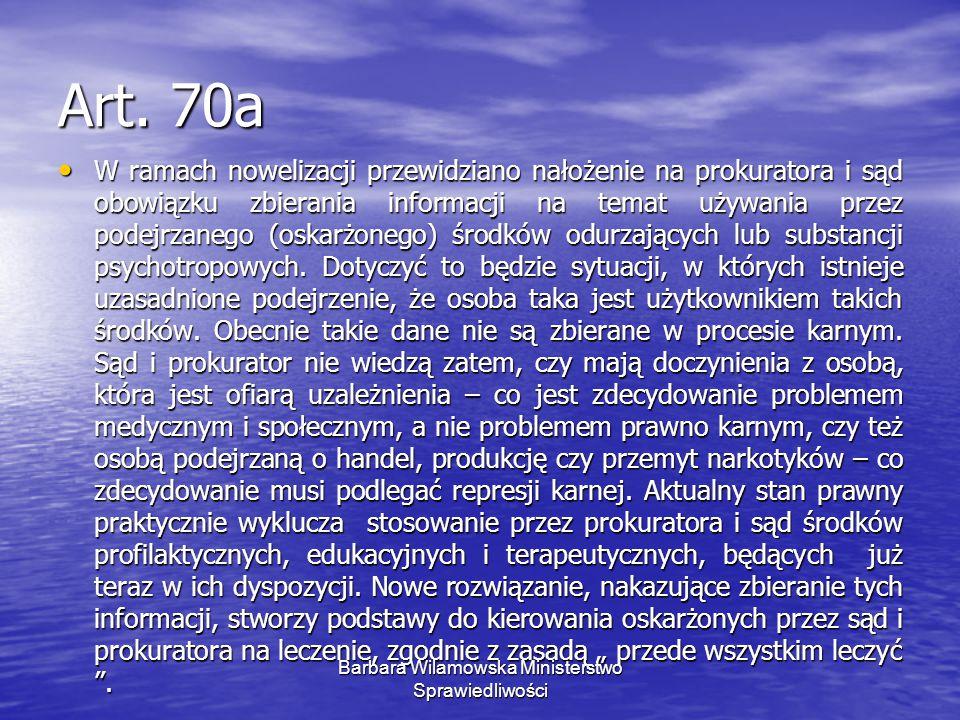Barbara Wilamowska Ministerstwo Sprawiedliwości