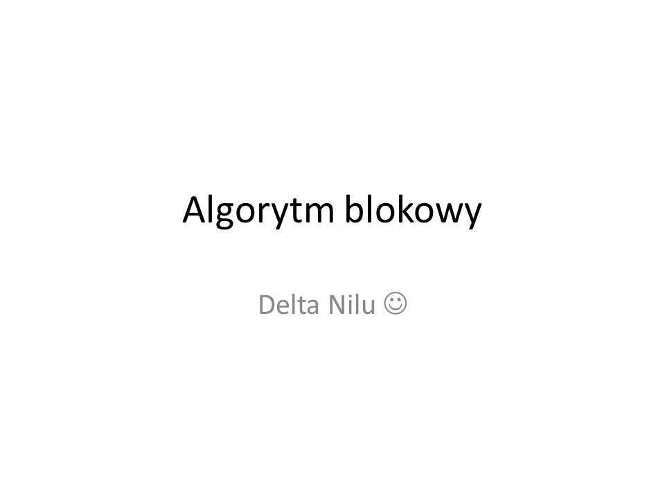 Algorytm blokowy Delta Nilu 