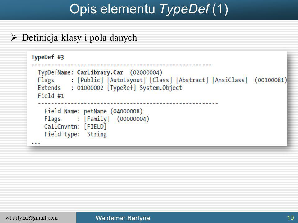 Opis elementu TypeDef (1)