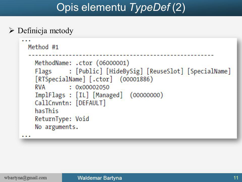 Opis elementu TypeDef (2)