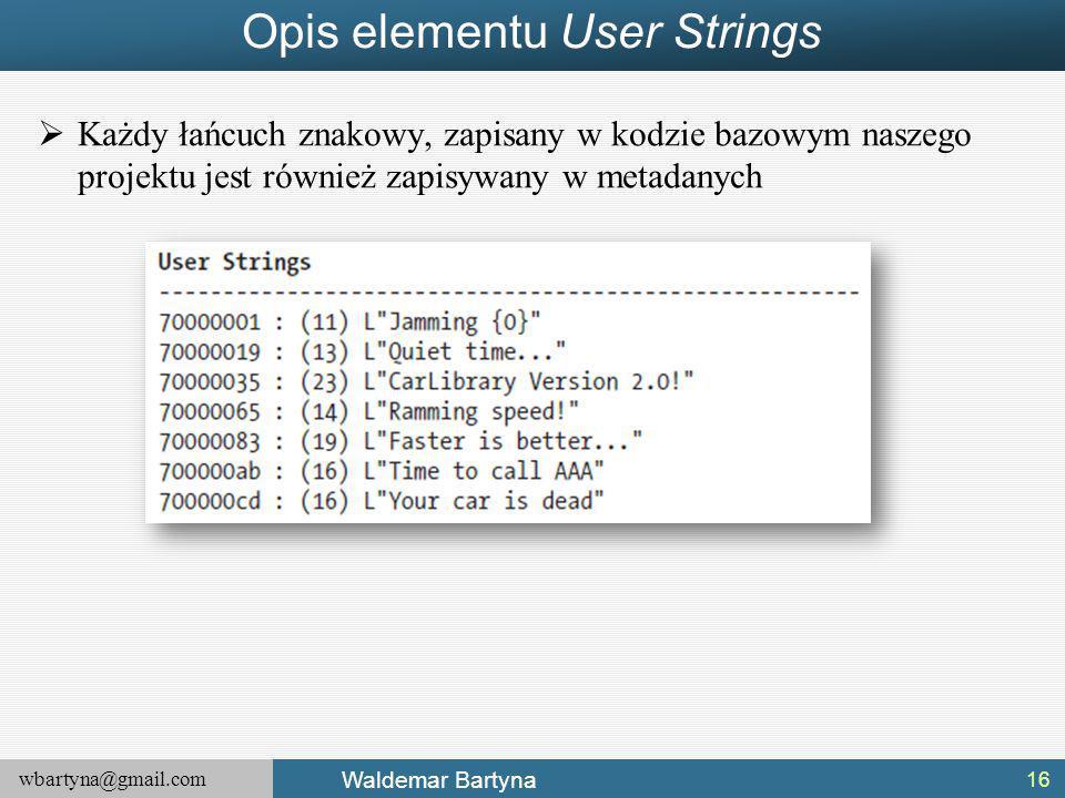 Opis elementu User Strings