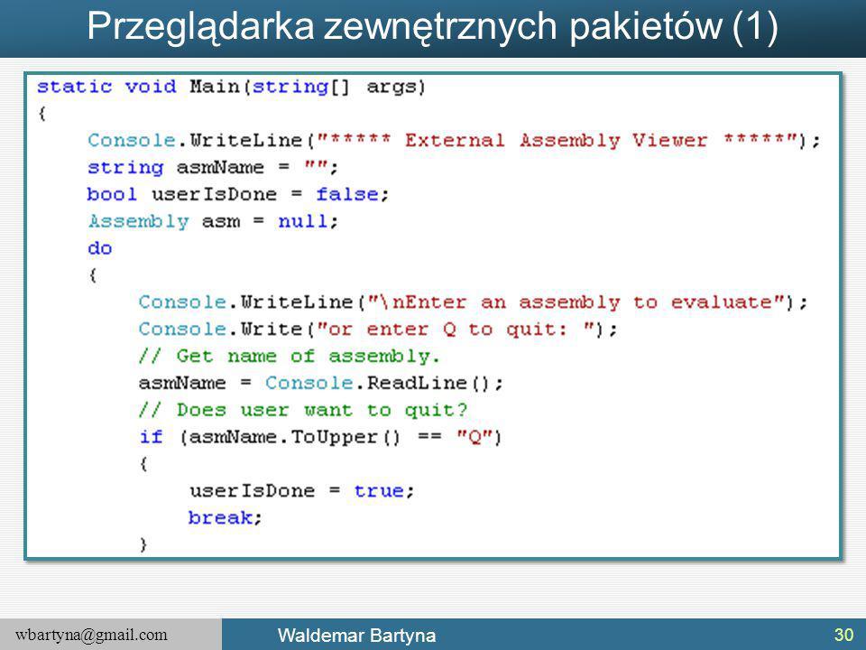 Przeglądarka zewnętrznych pakietów (1)