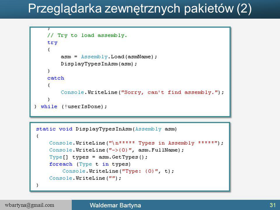 Przeglądarka zewnętrznych pakietów (2)