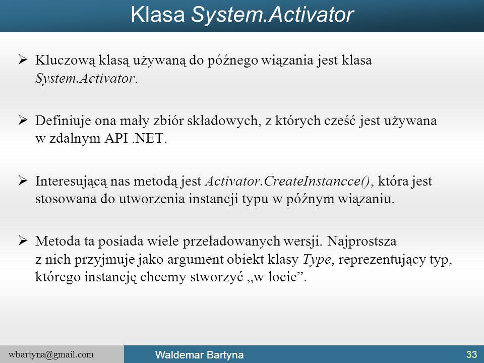 Klasa System.Activator