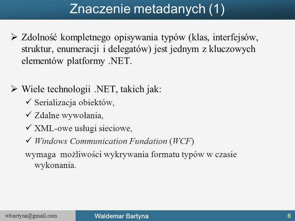 Znaczenie metadanych (1)