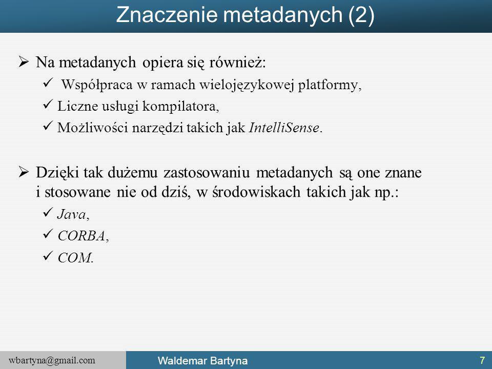 Znaczenie metadanych (2)