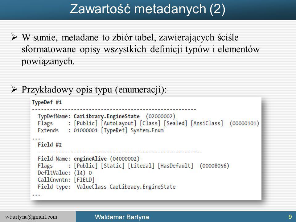 Zawartość metadanych (2)