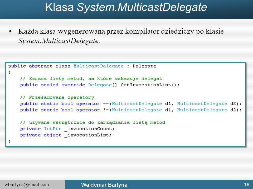 Klasa System.MulticastDelegate