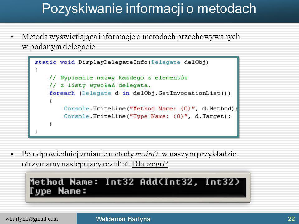 Pozyskiwanie informacji o metodach