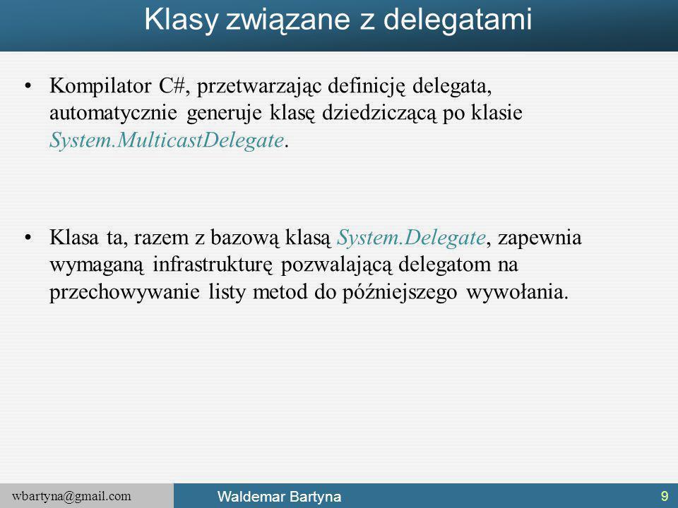 Klasy związane z delegatami