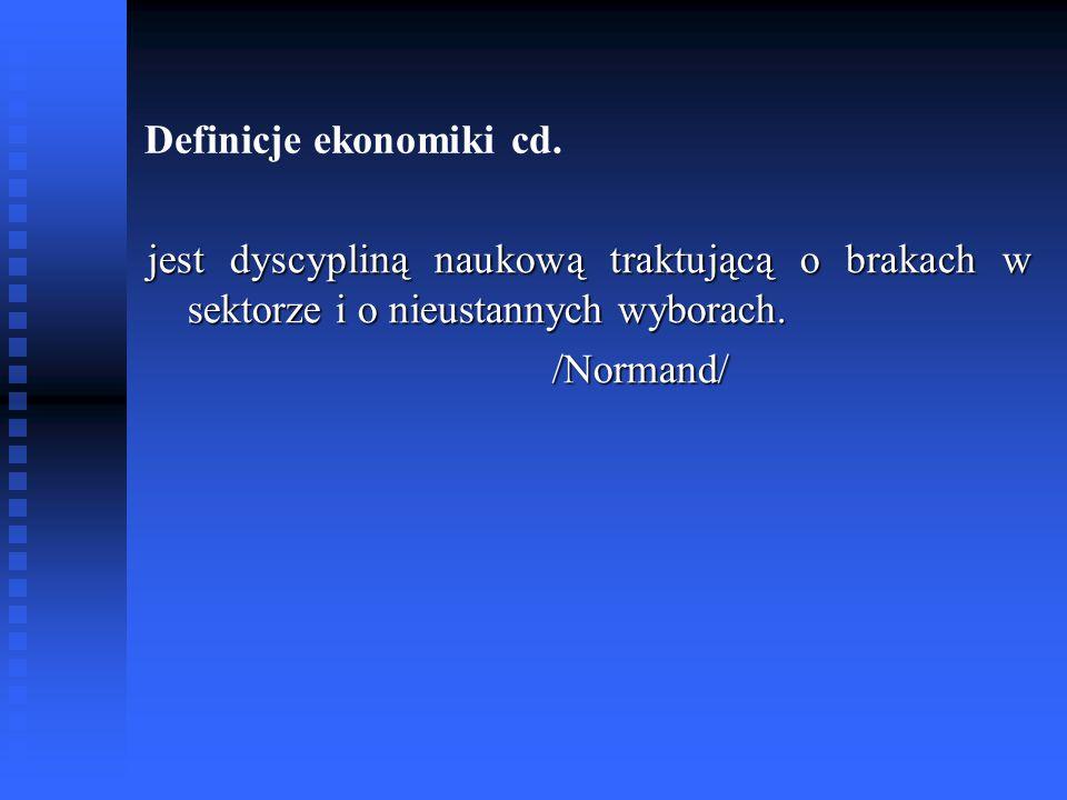 Definicje ekonomiki cd.