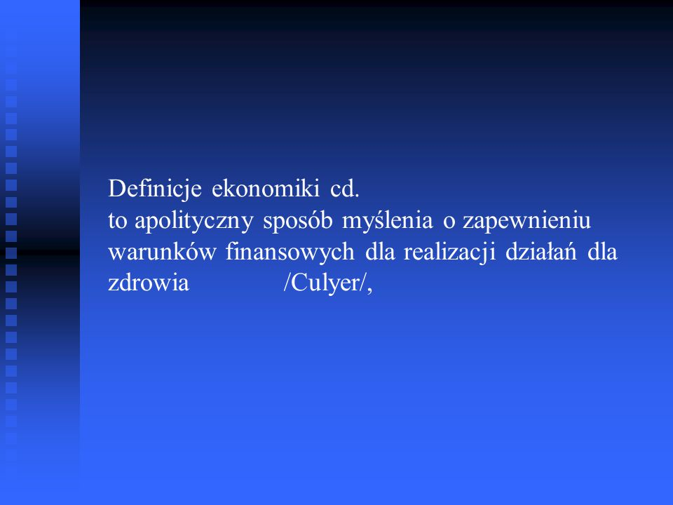Definicje ekonomiki cd