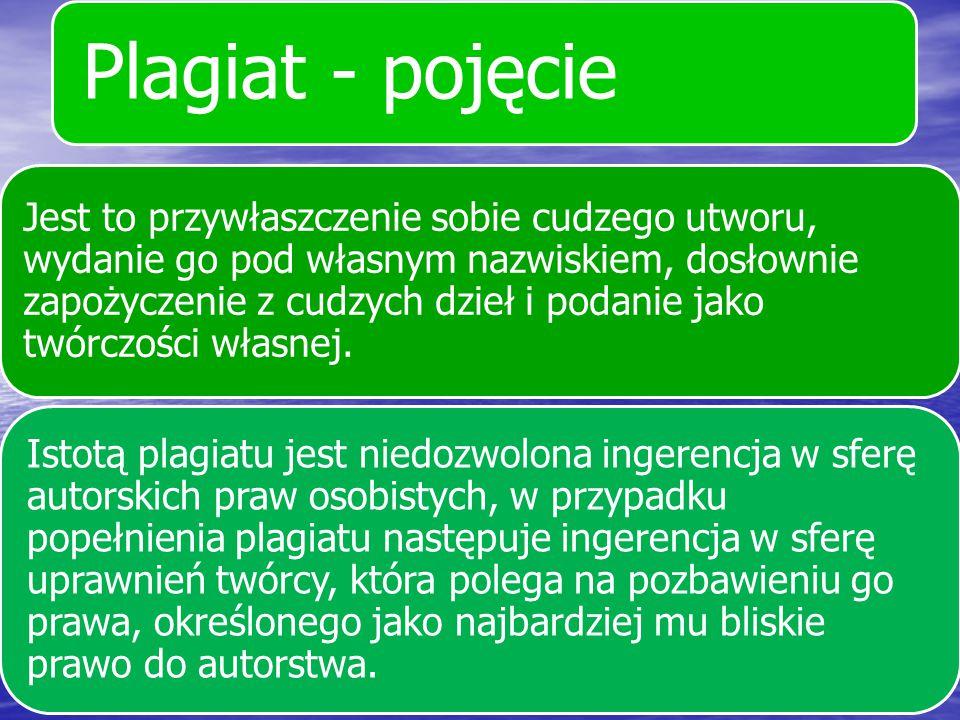 Plagiat - pojęcie