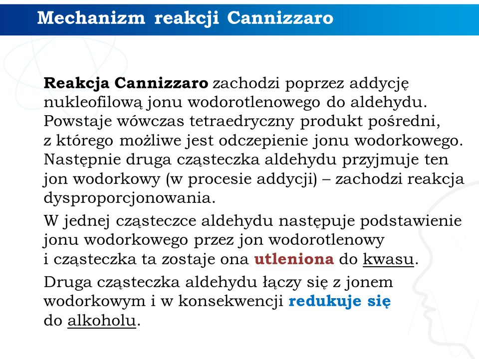Mechanizm reakcji Cannizzaro