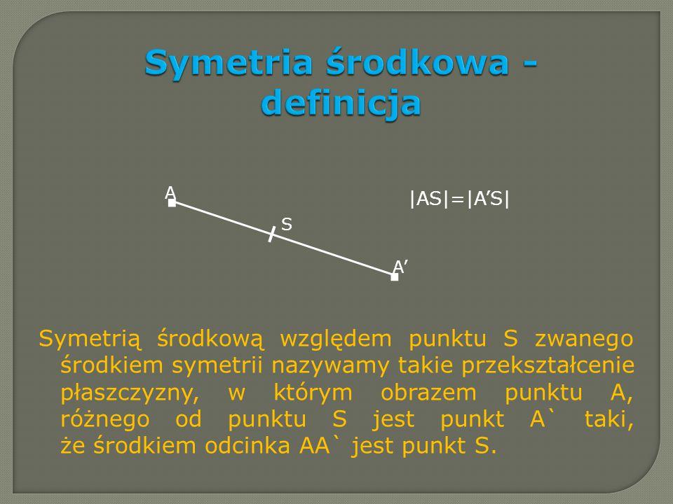 Symetria środkowa - definicja