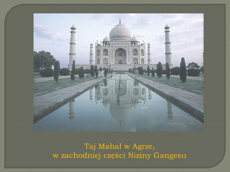 Taj Mahal w Agrze, w zachodniej części Niziny Gangesu