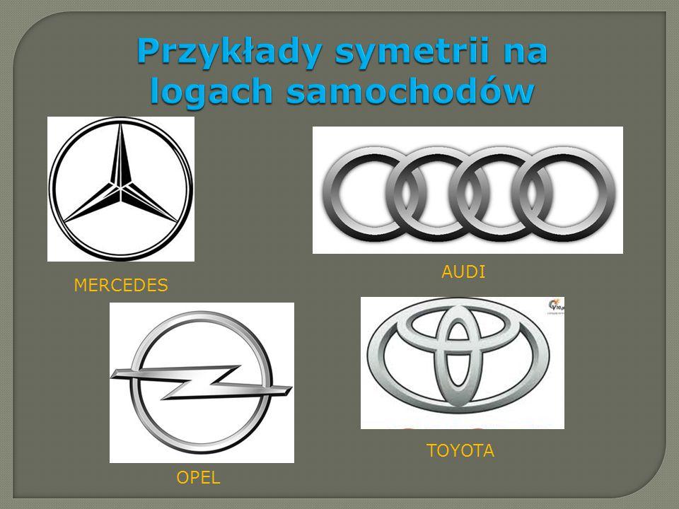 Przykłady symetrii na logach samochodów