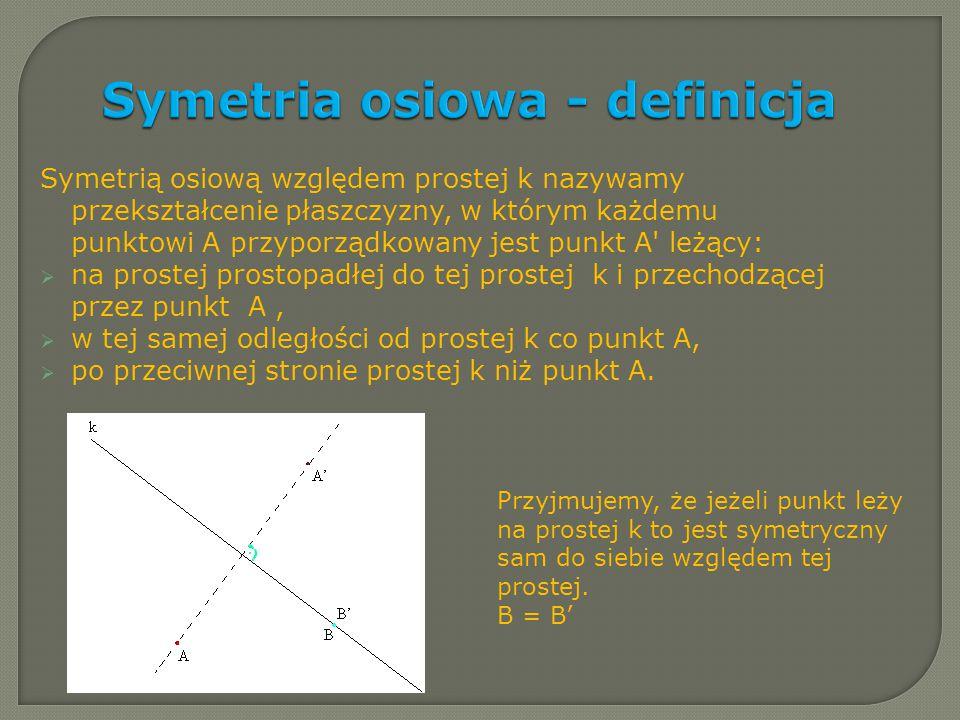 Symetria osiowa - definicja