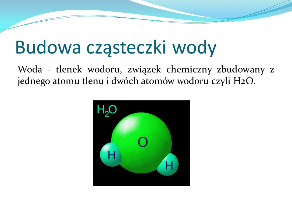 Budowa cząsteczki wody