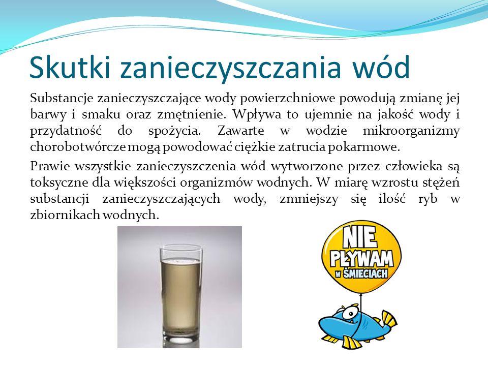 Skutki zanieczyszczania wód