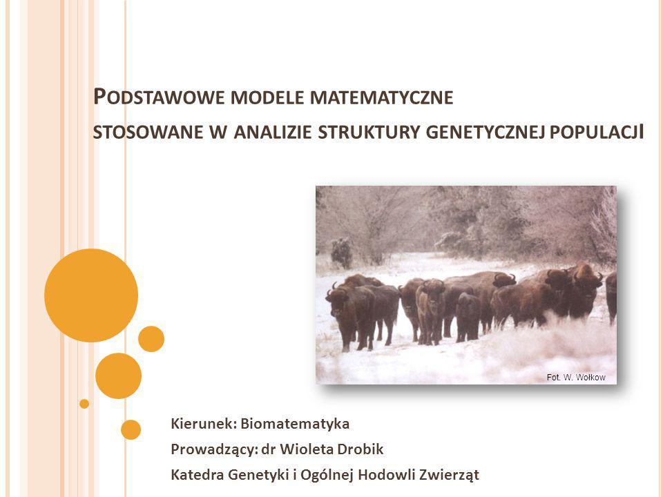 Podstawowe modele matematyczne stosowane w analizie struktury genetycznej populacji