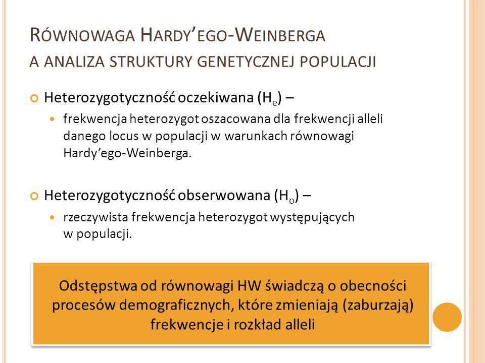 Równowaga Hardy'ego-Weinberga a analiza struktury genetycznej populacji