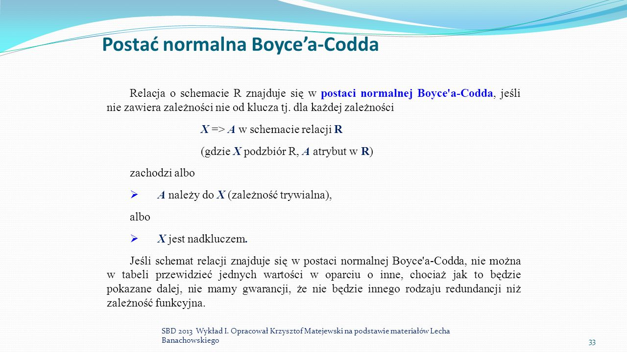 Postać normalna Boyce'a-Codda