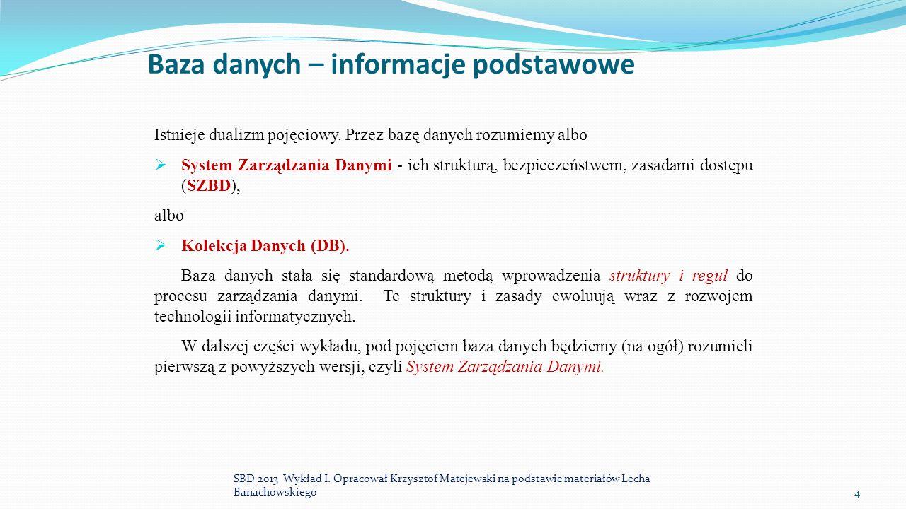 Baza danych – informacje podstawowe