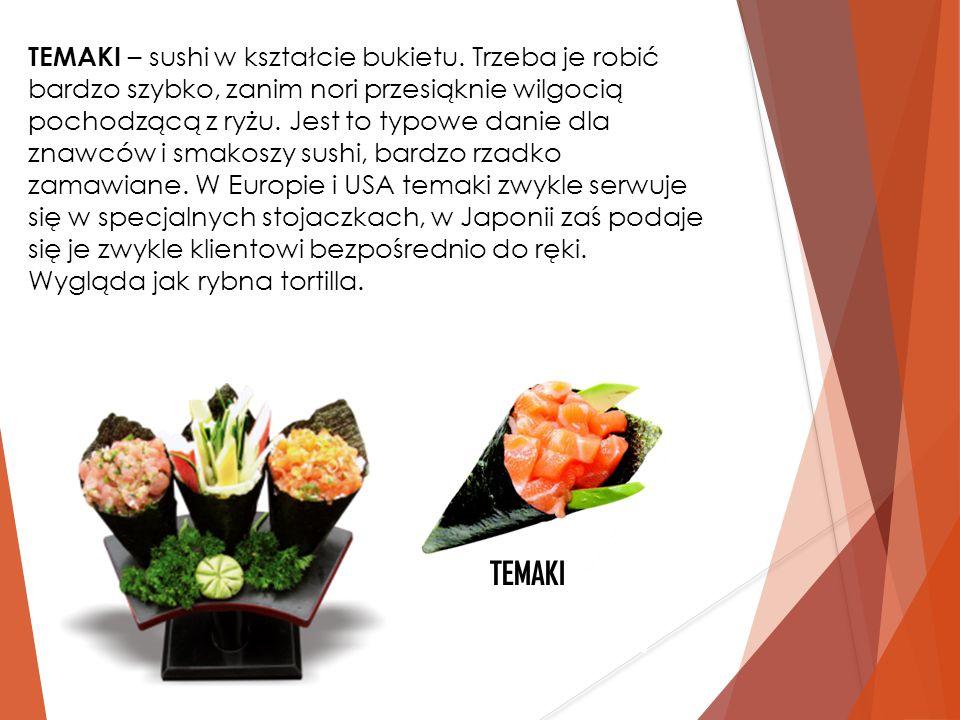 TEMAKI – sushi w kształcie bukietu