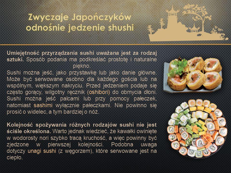 Zwyczaje Japończyków odnośnie jedzenie shushi