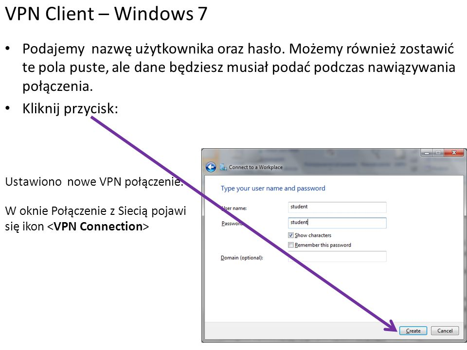 VPN Client – Windows 7
