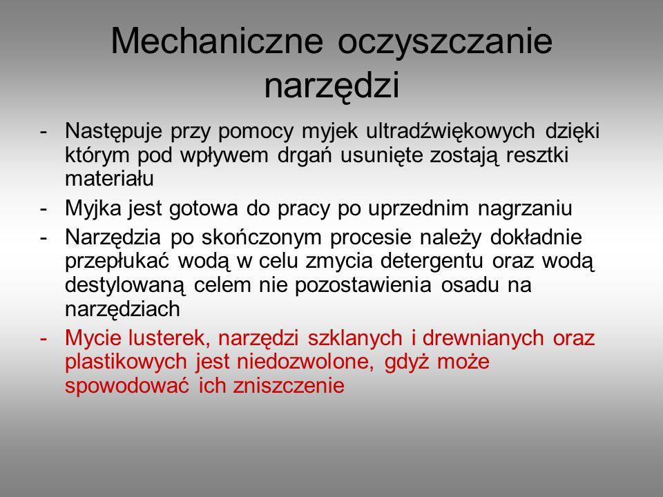 Mechaniczne oczyszczanie narzędzi