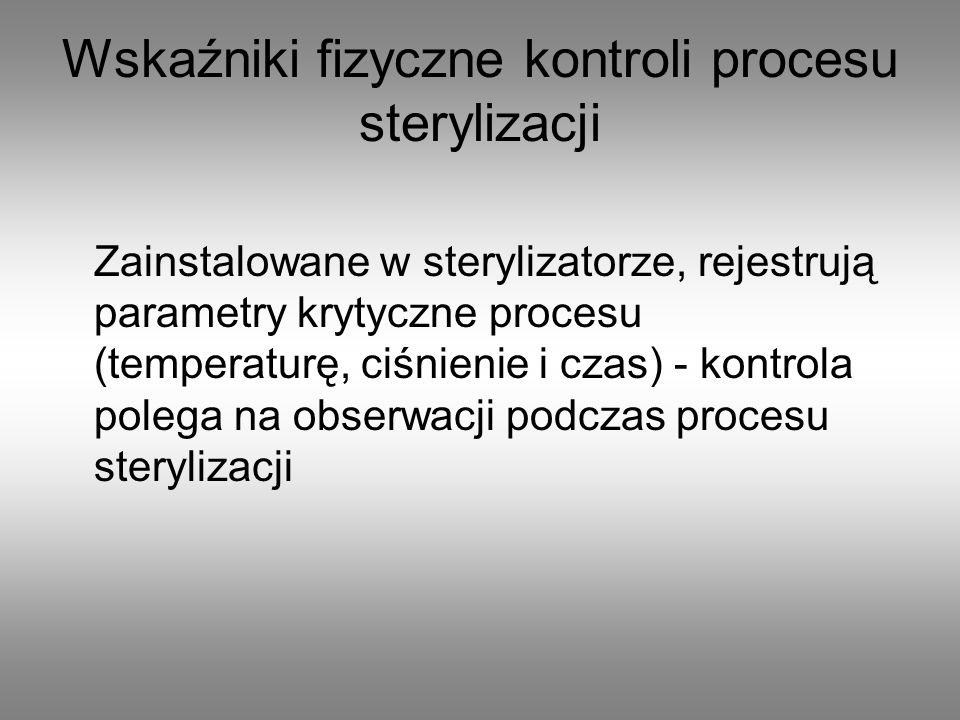 Wskaźniki fizyczne kontroli procesu sterylizacji