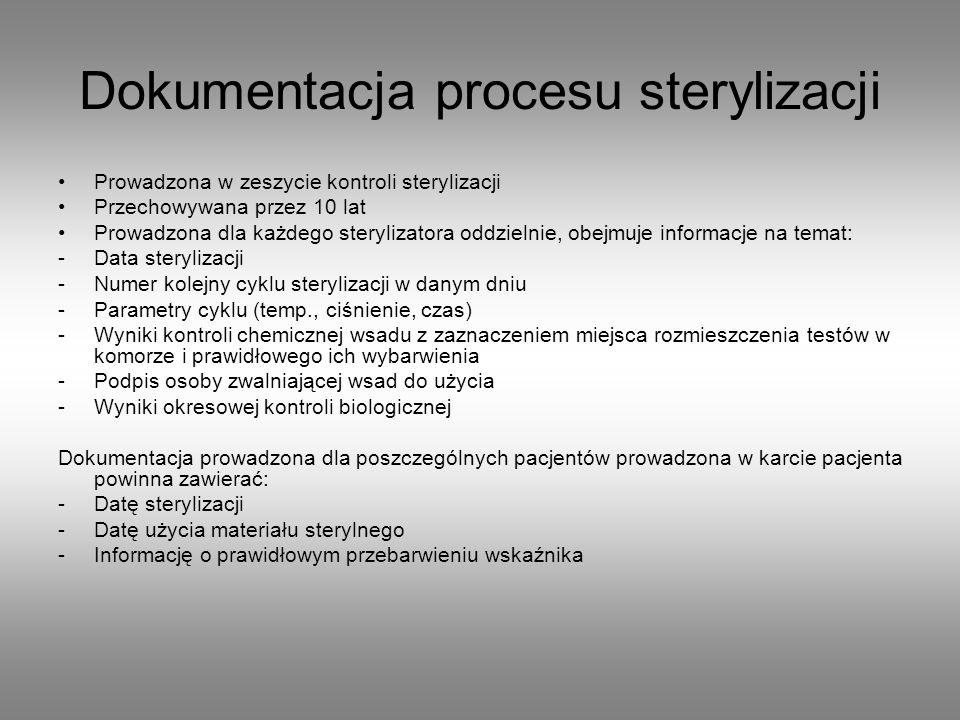 Dokumentacja procesu sterylizacji