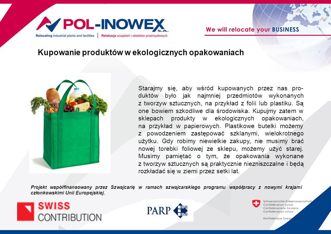 Kupowanie produktów w ekologicznych opakowaniach